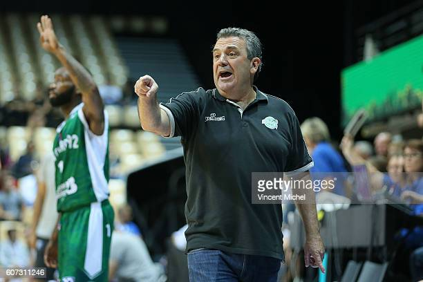 Pascal Donadieu headcoach of Nanterre during the match for the 3rd and 4th place between Nanterre and Khimki Moscow at Tournament ProStars at Salle...