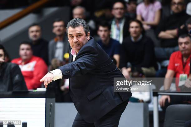 Pascal Donnadieu coach of Nanterre during the Pro A match between Nanterre 92 and Monaco on January 21 2018 in Nanterre France