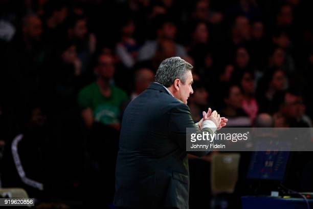 Pascal Donnadieu head coach of Nanterre during the Leaders Cup match between Le Mans and Nanterre 92 at Disneyland Resort Paris on February 17 2018...