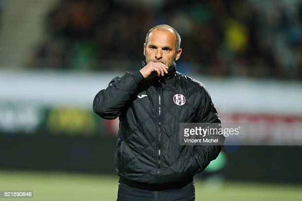 Pascal Dupraz headcoach of Toulouse during the French Ligue 1 between Lorient and Toulouse at Stade du Moustoir on April 16, 2016 in Lorient, France.