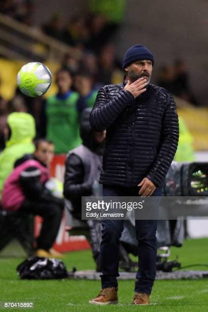 Pascal Dupraz Headcoach of Toulouse during the Ligue 1 match between Nantes and Toulouse at Stade de la Beaujoire on November 4 2017 in Nantes