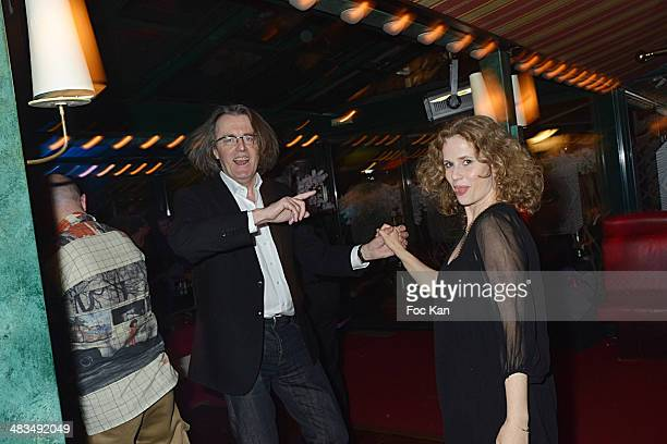Pascal Dusapin and Florence Darel attend La Closerie Des Lilas Literary Awards 2014 7th at La Closerie Des Lilas on April 8 2014 in Paris France