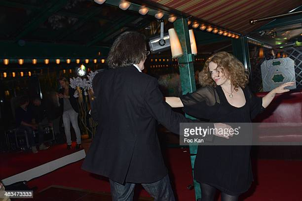 Pascal Dusapin and his wife Florence Darel attend La Closerie Des Lilas Literary Awards 2014 7th at La Closerie Des Lilas on April 8 2014 in Paris...