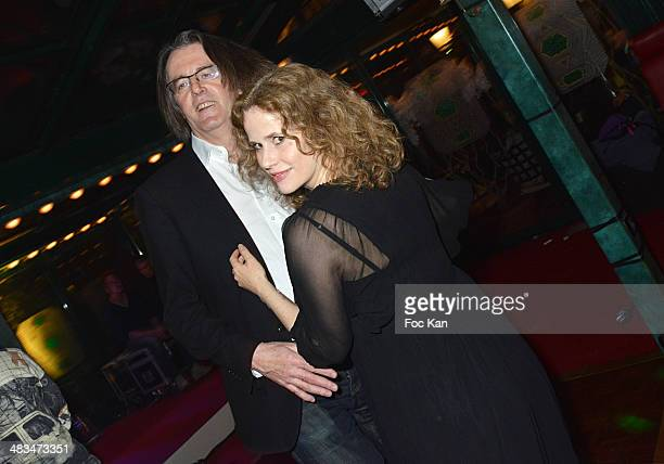 Pascal Dusapin and his wife Florence Darel attend La Closerie Des Lilas Literary Awards 2014 - 7th at La Closerie Des Lilas on April 8, 2014 in...