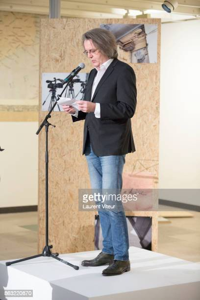 "Pascal Dusapin reads ""Tombeau pour Cinq Cent Mille Soldats"" for 50th anniversary of the book at Azzedine Alaia Gallery on October 19, 2017 in Paris,..."
