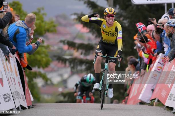 Pascal Eenkhoorn of The Netherlands and Team Jumbo - Visma / Celebration / during the 3rd Velon Hammer Series 2019 - Hammer Climb a 85,6km stage from...