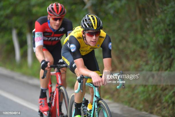 Pascal Eenkhoorn of The Netherlands and Team LottoNLJumbo / during the 2nd Tour of Guangxi 2018 Stage 4 a 1522km stage from Nanning to Mashan...