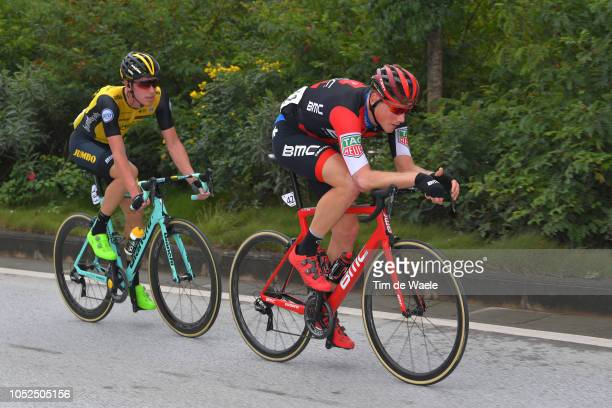 Pascal Eenkhoorn of The Netherlands and Team LottoNLJumbo / Stefan Kung of Switzerland and Bmc Racing Team / during the 2nd Tour of Guangxi 2018...