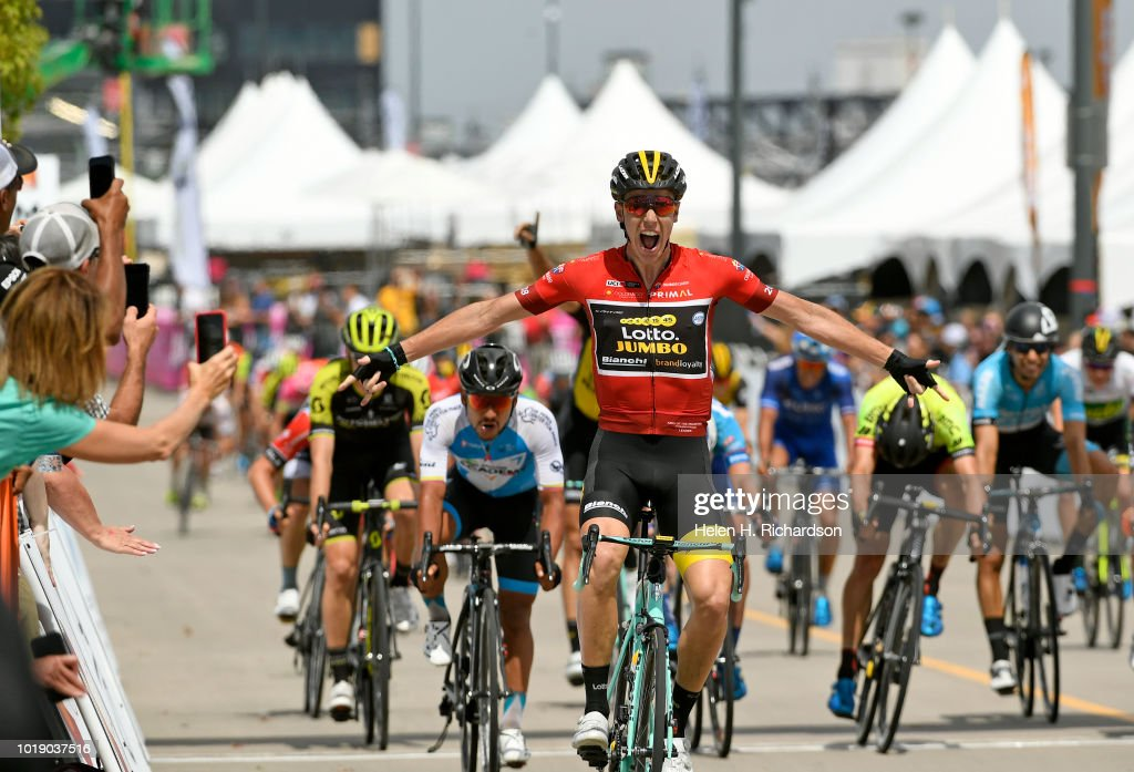 Stage three of the Colorado Classic bike race  in Denver. : ニュース写真
