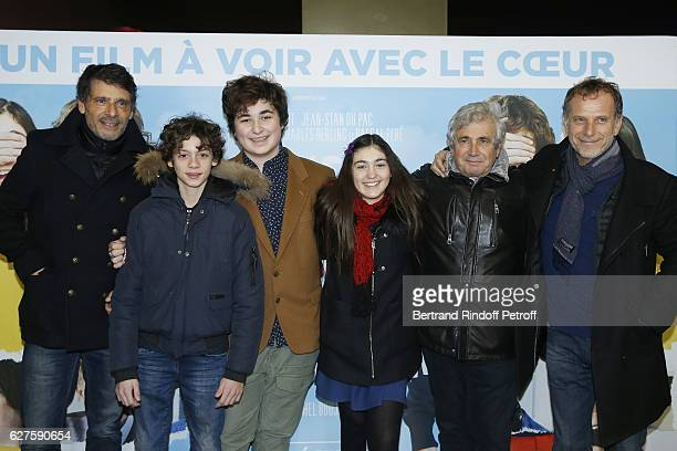 Pascal Elbe JeanStan Du Pac Antoine Khorsand Alix Vaillot Michel Boujenah and Charles Berling attend the Le Coeur En Braille Paris Premiere at Cinema...