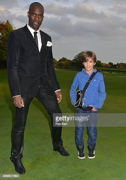Pascal Gentil and Enzo Tomasini attend the 'Tee Break Gourmand' Auction Golf Competition hosted by Matrix to benefit SOS Gazelles at the Golf d'...