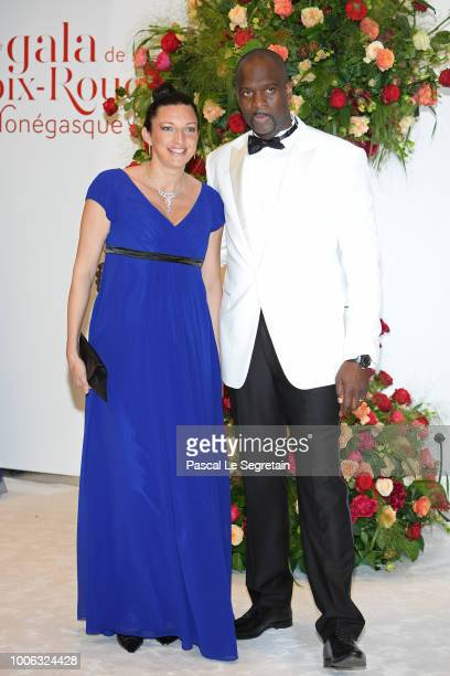 Pascal Gentil and his wife attend the 70th Monaco Red Cross Ball Gala on July 27 2018 in MonteCarlo Monaco