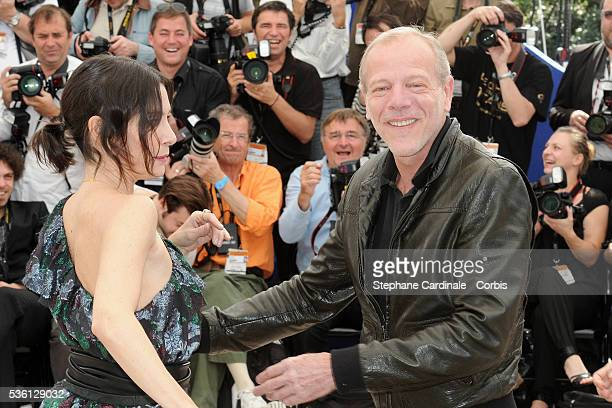 Pascal Greggory and Geraldine Pailhas at the Photocall for 'Rebecca H ' during the 63rd Cannes International Film Festival