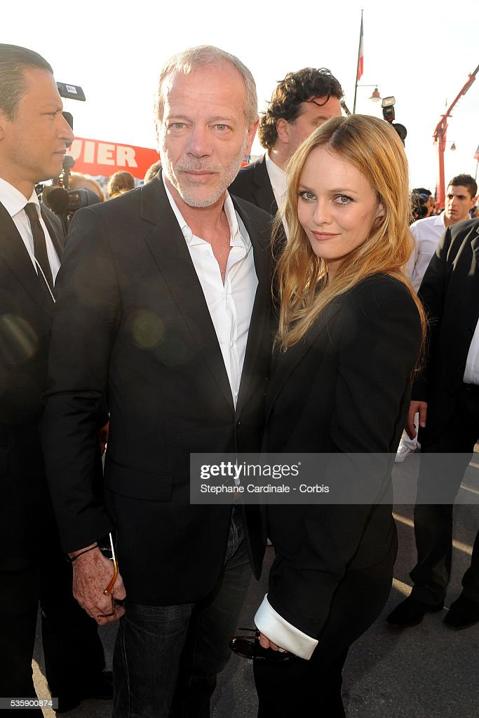 Pascal Greggory and Vanessa Paradis attend the Chanel Cruise Collection Presentation in Saint Tropez
