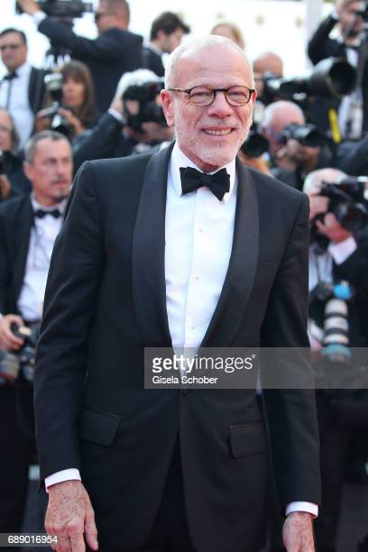Pascal Greggory attends the 'Based On A True Story' screening during the 70th annual Cannes Film Festival at Palais des Festivals on May 27 2017 in...