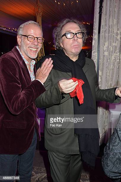 Pascal Gregory and Jean Paul Scarpita attend the Kenzo Takada Celebrates 50 Years of Life in Paris at Le Pre Catalan on September 16 2015 in Boulogne...