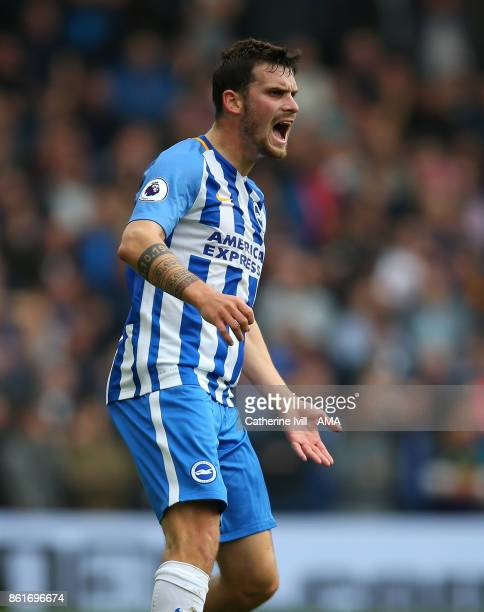 Pascal Gross of Brighton and Hove Albion during the Premier League match between Brighton and Hove Albion and Everton at Amex Stadium on October 15...
