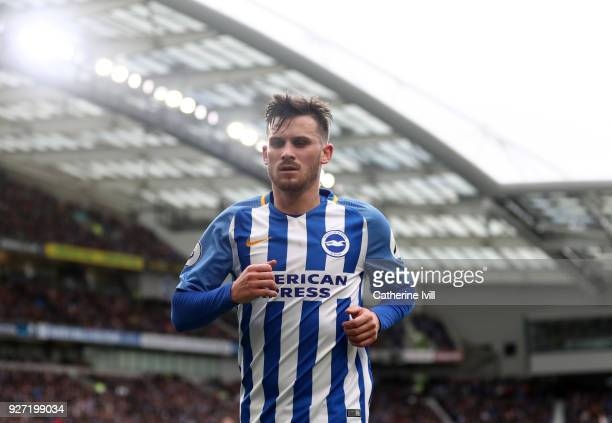 Pascal Gross of Brighton and Hove Albion during the Premier League match between Brighton and Hove Albion and Arsenal at Amex Stadium on March 4 2018...