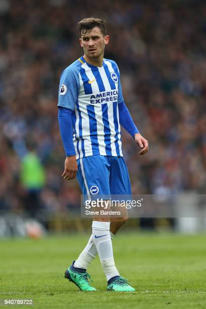 Pascal Gross of Brighton and Hove Albion during the Premier League match between Brighton and Hove Albion and Leicester City at Amex Stadium on March...
