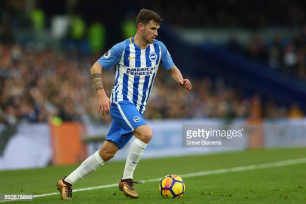 Pascal Gross of Brighton and Hove Albion in action during the Premier League match between Brighton and Hove Albion and Burnley at Amex Stadium on...
