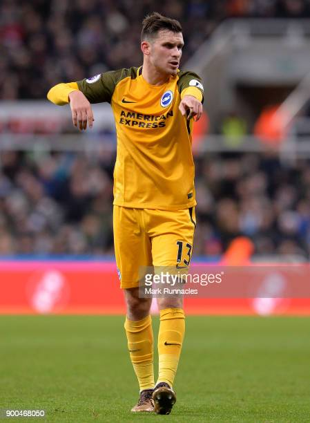 Pascal Gross of Brighton and Hove Albion in action during the Premier League match between Newcastle United and Brighton and Hove Albion at St James...