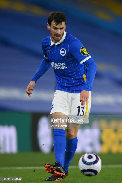 Pascal Gross of Brighton & Hove Albion in action during the Premier League match between Brighton & Hove Albion and Everton at American Express...