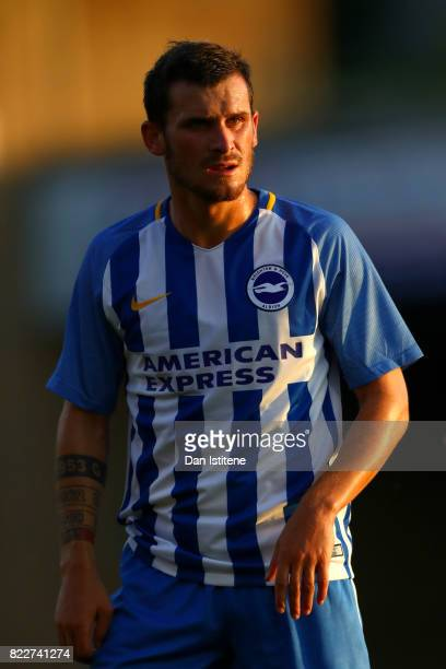 Pascal Gross of Brighton Hove Albion looks on during the preseason friendly match between Southend United and Brighton Hove Albion at Roots Hall on...