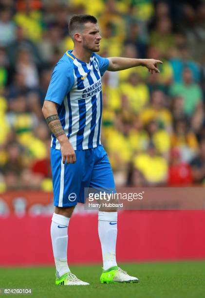 Pascal Gross of Brighton in action during the preseason friendly match between Norwich City and Brighton Hove Albion at Carrow Road on July 29 2017...