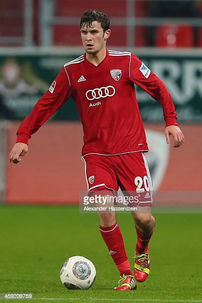 Pascal Gross of Ingolstadt battles for the ball with of Kaiserslautern during the Second Bundesliga match between FC Ingolstadt and 1FC...