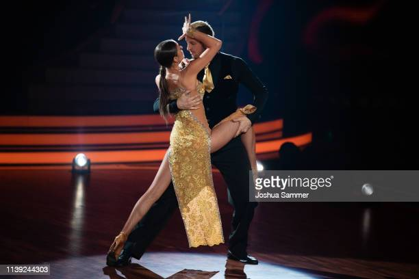 Pascal Hens and Ekaterina Leonova perform on stage during the 2nd show of the 12th season of the television competition Let's Dance on March 29 2019...
