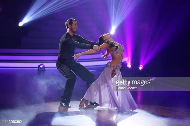 Pascal Hens and Ekaterina Leonova perform on stage during the 4th show of the 12th season of the television competition Let's Dance on April 12 2019...