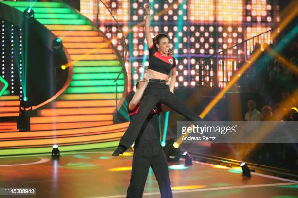Pascal Hens and Ekaterina Leonova perform on stage during the 5th show of the 12th season of the television competition Let's Dance on April 26 2019...