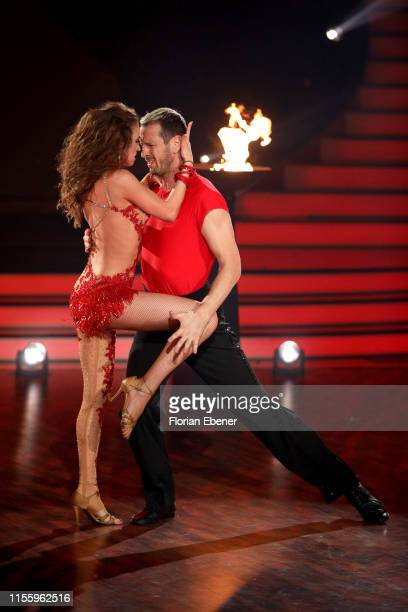 Pascal Hens and Ekaterina Leonova perform on stage during the finals of the 12th season of the television competition Let's Dance on June 14 2019 in...