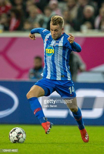 Pascal Koepke of Berlin runs with the ball during the Telekom Cup 2019 3rd place match between Fortuna Duesseldorf and Hertha BSC Berlin at Merkur...