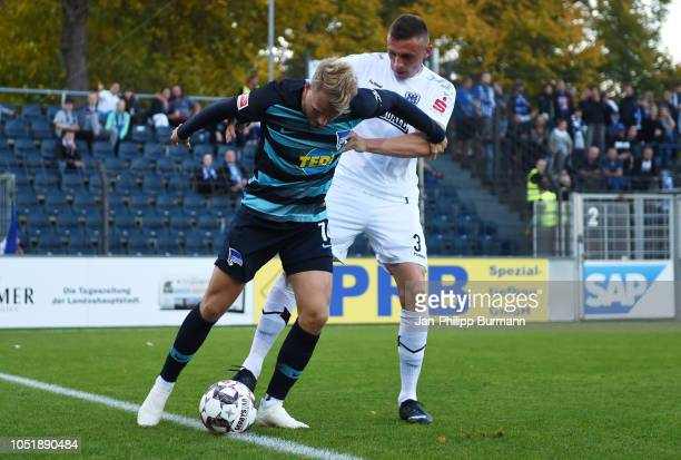 Pascal Koepke of Hertha BSC and Rode Valentin of SV Babelsberg 03 during the friendly match between Hertha BSC and the SV Babelsberg 03 at the...