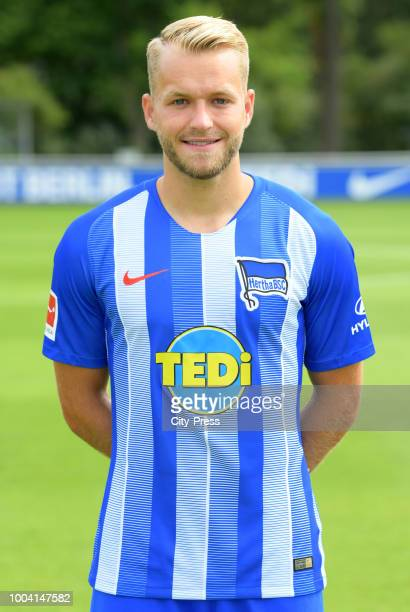 Pascal Koepke of Hertha BSC during the DFL media day at the Schenkendorfplatz on july 22 2018 in Berlin Germany
