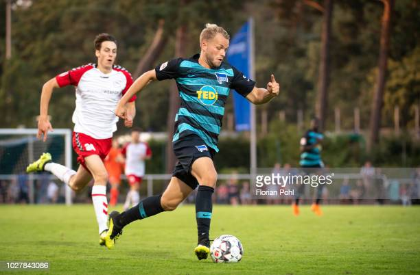 Pascal Koepke of Hertha BSC during the friendly match between Hertha Zehlendorf against Hertha BSC at ErnstReuterStadion on September 6 2018 in...
