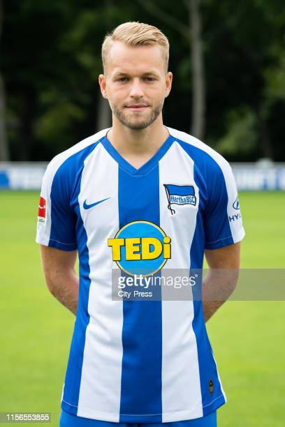 Pascal Koepke of Hertha BSC during the team presentation on July 19 2019 in Berlin Germany