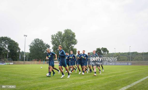 Pascal Köpke Niklas Stark during the Hertha BSC training camp on july 13 2018 in Neuruppin Germany