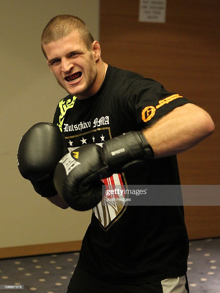 Pascal Krauss of Germany works out at the UFC 122 open workouts at the Hilton Hotel on November 10, 2010 in Dusseldorf, Germany.