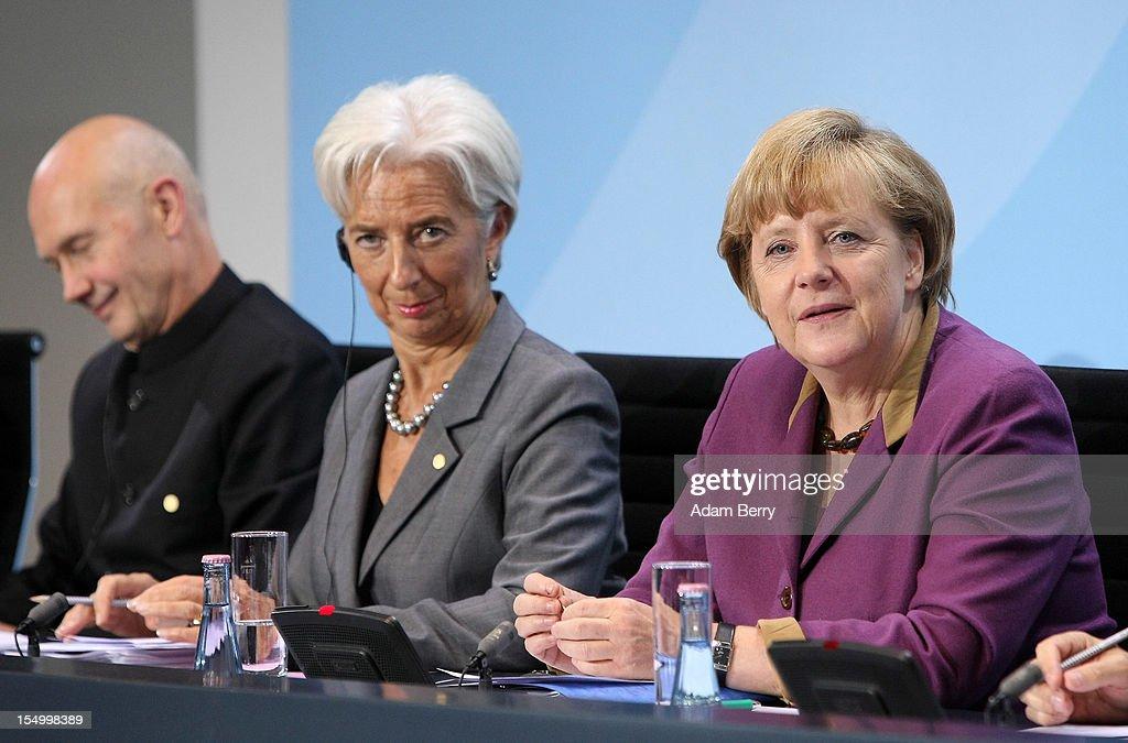 Merkel Hosts Economic And Finance Summit