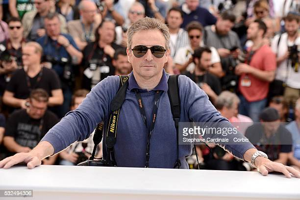 Pascal Le Segretain wearing Carrera sunglasses during the 69th annual Cannes Film Festival at the Palais des Festivals on May 18 2016 in Cannes France