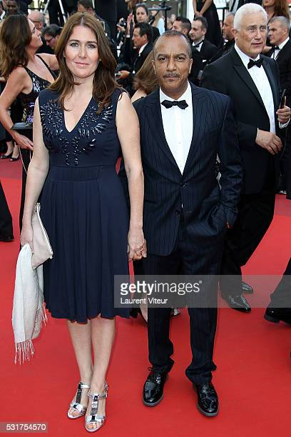 Pascal Legitimus and his wife Adriana Santini attend the 'Loving' premiere during the 69th annual Cannes Film Festival at the Palais des Festivals on...