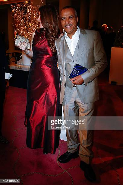 Pascal Legitimus and his wife Adriana Santini attends 20th edition of ' Les Sapins de Noel des Createurs' Designer's Christmas Trees Auction to...