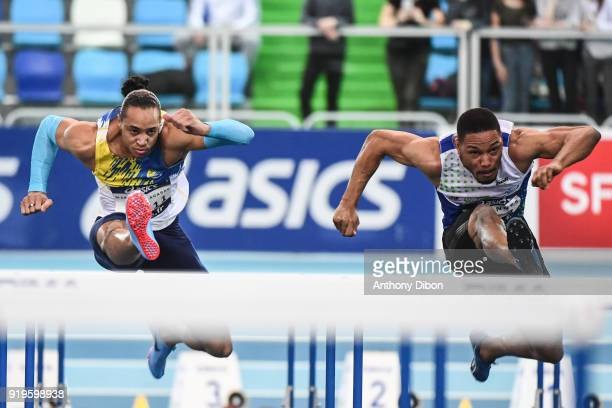 Pascal Martinot Lagarde and Loic Desbonnes during the Athletics French Championship Indoor on February 17 2018 in Lievin France