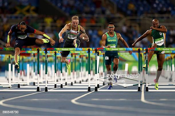 Pascal MartinotLagarde of France Gregor Traber of Germany Joao Vitor de Oliveira of Brazil and Antonio Alkana of South Africacompete in the Men's...