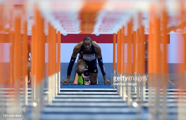 Pascal MartinotLagarde of France prepares to compete in the Men's 110m Hurdles SemiFinal during day four of the 24th European Athletics Championships...