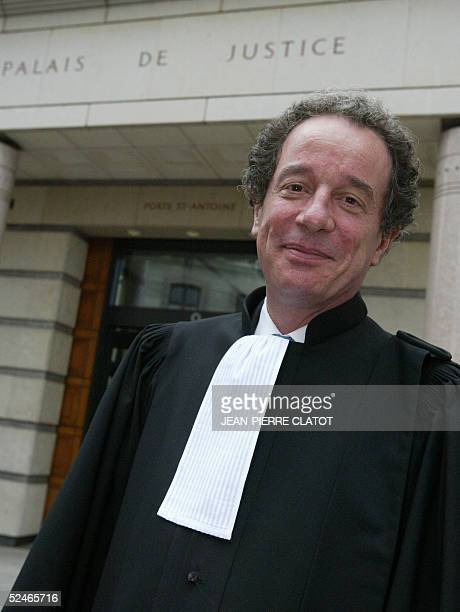 Pascal Maurer lawyer of Cecile Brossard suspected of murdering French banker Edouard Stern 28 February leaves a court 22 March 2005 in Geneva The...