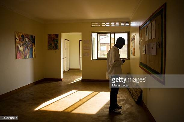Pascal Mbabazi participates in afterschool activities inside the Agahozo Shalom Youth Village on March 12 2009 in Rwamagana Rwanda The ASYV provides...