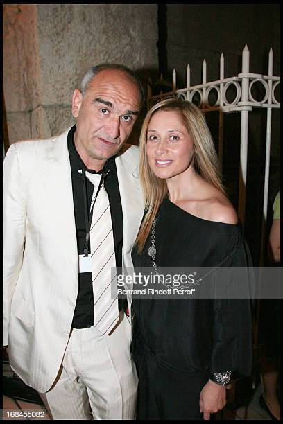 Pascal Negre and Lara Fabian at Nana Mouskouri's Farewell Concert At Odeon Herodes Atticus In Athens
